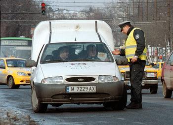 КАТ отне 14 шофьорски книжки при акция в София