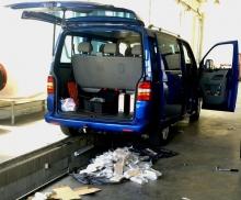 Задържаха натъпкан с хероин микробус с регистрация от Добрич