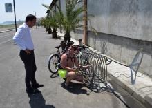 """На велоалеята към """"Сарафово"""" вече безплатно се помпят гуми"""