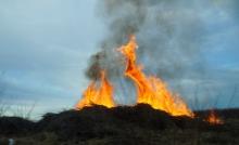 Къща изгоря при пожар в Русокастро