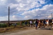 Рекорден брой хора са се мазали с кал на Атанасовското езеро