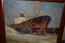 Картини на повече от 50 години показват на пристанище Бургас на Никулден