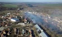 Дрон засне Хитрино след взрива (ВИДЕО)