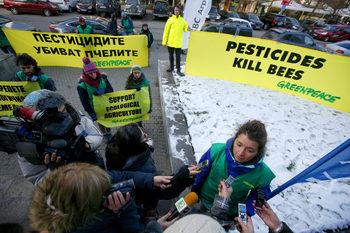 Активисти протестираха срещу опасни за пчелите пестициди