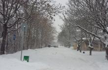 Усложнена остава зимната обстановка   в област Разград