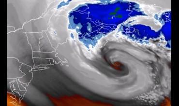 Бурята в североизточната част на САЩ (Видео)