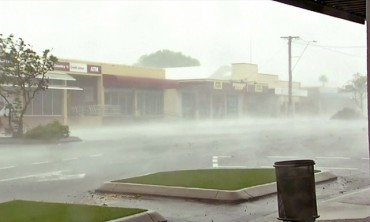Буря попиля Североизточна Австралия