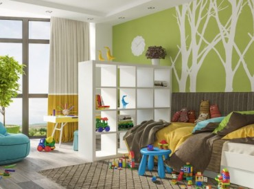 Светъл и забавен интериорен проект за детска стая