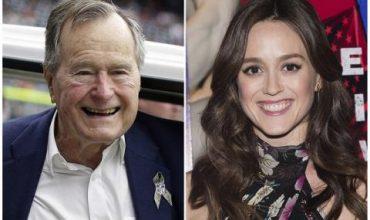 Буш-старши: Извинявам се, че докоснах Хедър Линд по…
