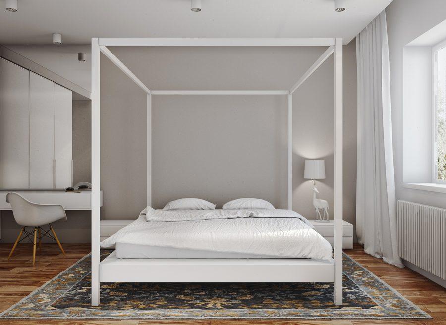 Съвременен интериорен проект за двустаен апартамент [61 м²]