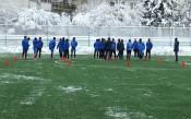 Левски с тренировка в снежна София, преди заминаването за Русе
