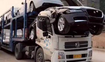 Jaguar срещу китайски автовоз