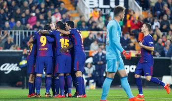 """""""Барселона"""" преодоля с лекота първото си препятствие към защитата на Купата на краля"""
