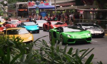 Парадът на Lamborghini (ВИДЕО)