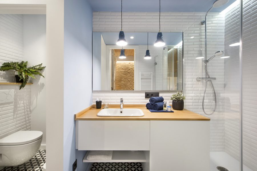 Модерен интериор за малък апартамент в Испания [40 м²]