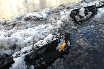 """Снимка на деня: Когато снегорин мине през велоалеята на """"Дондуков"""""""