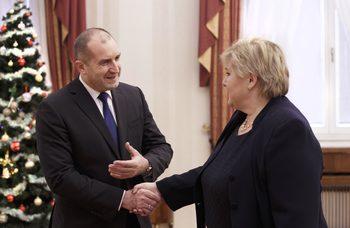 Румен Радев и премиерът на Норвегия обсъдиха и въпроси от европейския дневен ред