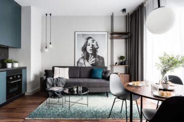 Малък апартамент с модерен и практичен интериорен дизайн