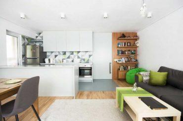 Малък апартамент със стилен и функционален дизайн от IRchitect