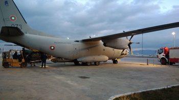 """Военен самолет """"Спартан"""" пострда при инцидент на летище Граф Игнатиево"""