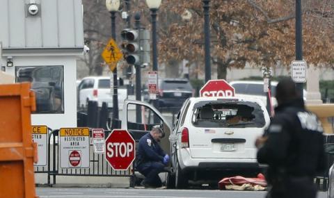 Кола се блъсна в бариерата на Белия дом