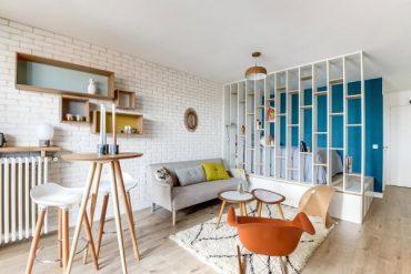 Свеж и практичен интериор на компактен апартамент [25 м²]