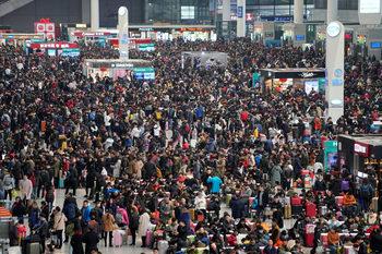 Снимка на деня: Великото китайско стълпотворение