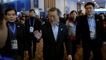 Участието на Русия в Пьонгчанг има положително въздействие, каза корейският президент