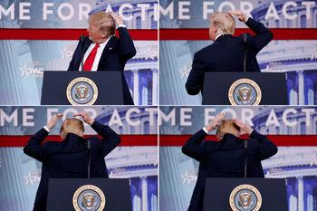 Снимка на деня: Какво се крие под прическата на Тръмп