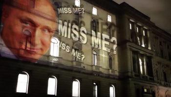 "Видео: Инсталация с Путин в Лондон – ""Липсвах ли ви?"""