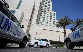 Екип на ООН е бил подложен на обстрел в Сирия