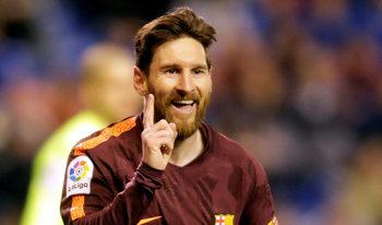 """""""Барселона"""" си върна трона в Испания след шоу на Меси в Ла Коруня"""