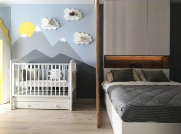 Съвременен малък апартамент за младо семейство с бебе [40 м²]