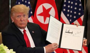 Какво си обещаха Тръмп и Ким