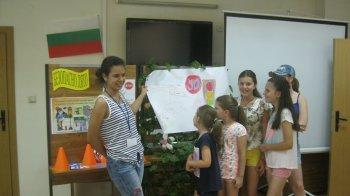 Занимания за деца по пътна безопасност и по английски се проведоха в Библиотеката