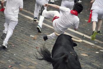 """Фотогалерия: Излязоха биковете на """"Сан фермин"""""""