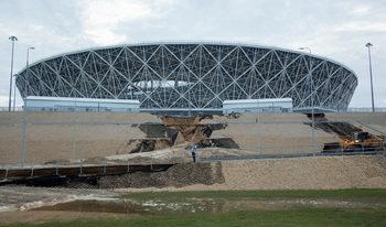 Порой нанесе щети на един от новите стадиони за световното в Русия