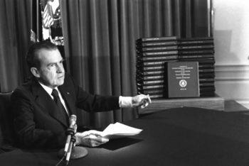 Тайната визита на Никсън
