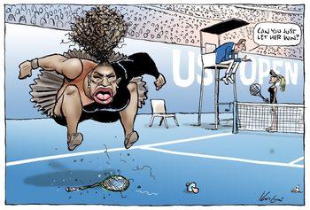 Австралийски вестник предизвика критики с карикатура на Серена Уилямс