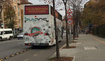 Туристически автобус на велоалея