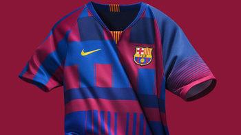 """""""Барселона"""" и """"Найки"""" представиха нетрадиционна фланелка по случай юбилей"""