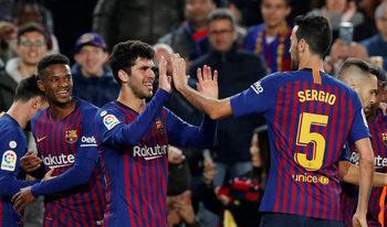 """""""Барселона"""" прекъсна серията си без победа с успех над """"Виляреал"""""""