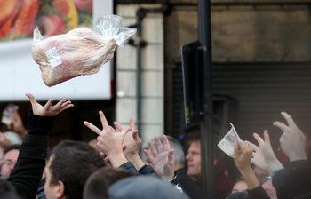 Фотогалерия: На търг за месо