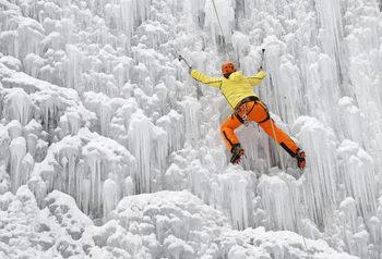Фотогалерия: Да изкатериш ледена стена