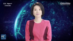 Синхуа представи първата в света цифрова телевизионна водеща
