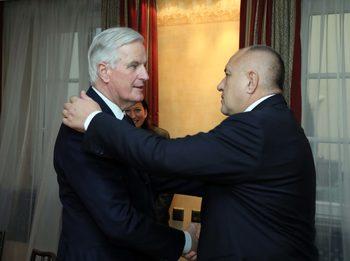 България е подготвена за всички сценарии за Брекзит, каза Борисов на Мишел Барние