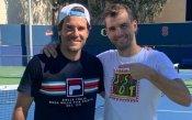 Григор тренира на Индиън Уелс с турнирния директор