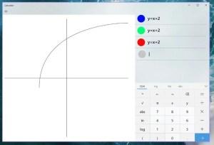 Калкулаторът на Windows 10 ще може да показва графиките на уравненията
