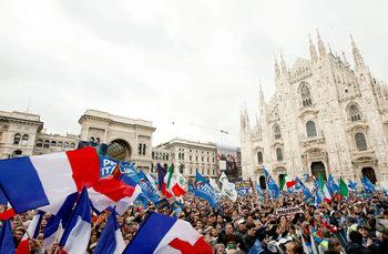 """Салвини, Марешки и националисти обещаха на митинг """"историческа промяна"""" за Европа"""