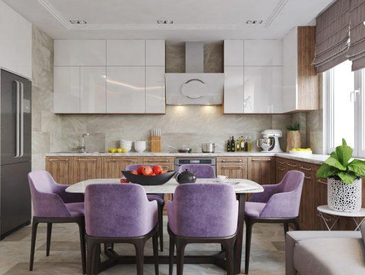Комбиниране на дневна, кухня и трапезария в едно помещение [27 м²]